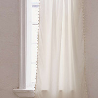 Blackout Pompom Curtain | Urban Outfitters