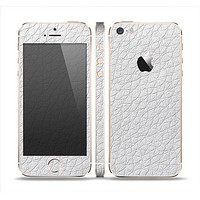 The White Leather Texture Skin Set for the Apple iPhone 5s