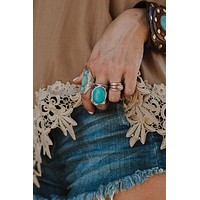 Mojave Turquoise Statement Ring - Turquoise