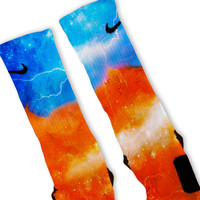 Thunder Storm Customized Nike Elite Socks
