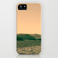 Sunsetting landscape photography of sky, lake and mountain. iPhone & iPod Case by NatureMatters