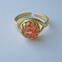 Caelia - Vintage Fire Opal Ring   Eclectic Eccentricity Vintage Jewellery