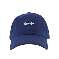 Madras Longshanks Logo Hat in Navy by Country Club Prep
