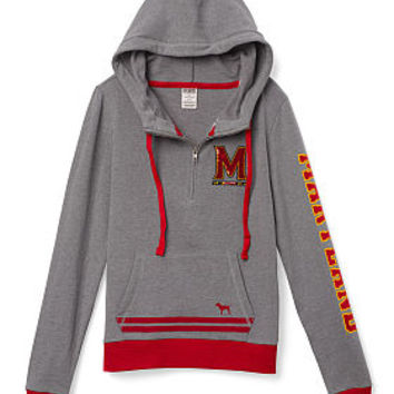 University of Maryland Bling Pullover Hoodie - PINK - Victoria's Secret