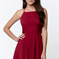 LA Hearts Backless Crisscross Tank Dress - Womens Dress