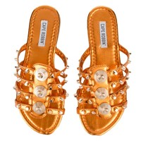 Cape Robbin Vintage-10 Women's Orange Sandals