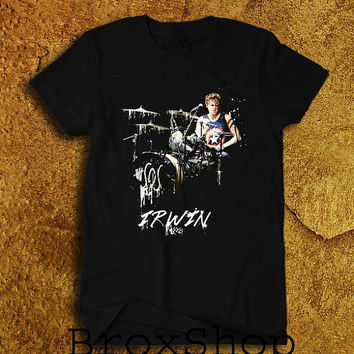 Ashton Irwin 5SOS 5 Seconds of Summer Printed Shirt Geek Hipster Shirt Black Unisex Size Men Women Tee TShirt