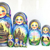 Matryoshka nesting doll Saint-Petersburg kod322