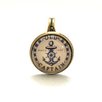 ON SALE 10% SALE - Ring Vintage Anchor Old Captain  Circle Shape Special Jewelry