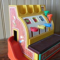 FREE SHIPPING -  Fisher-Price Cash Register/Vintage Fisher-Price/Toy Cash Register/Children's Play Toy