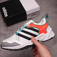 Adidas neo 20-20 FX TRAIL casual vintage daddy shoes White Black Orange