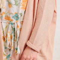 Morning Chill Knit Cardigan In Peach