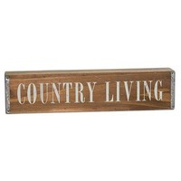 """Country Living 12"""" Wooden Table Sign"""
