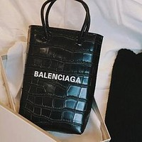 Balenciaga 2020 new crocodile pattern mobile phone bag tote bag hand bag shoulder bag women bag