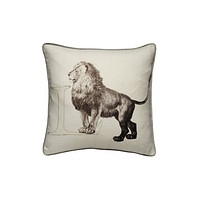 Linen with Letter L Print Cushion | Andrew Martin Animal Alphabet L