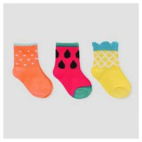 Baby Girls' 3-Pack Fruit Print Socks - Cat & Jack™