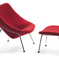 oyster lounge chair & ottoman