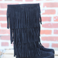 Apache 3 Layer Fringe Boot by Pierre Dumas {Black}