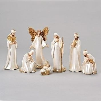 Roman Ivory Seven Piece Nativity Set-633261