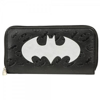 Batman Logo Large Zip Around Wallet