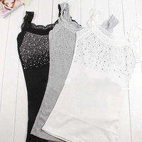 Lace Tank Top Sling Camisole Cami Shirt