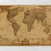 73*48 cm Large Chart Retro Paper Matte Kraft World Map wallpaper