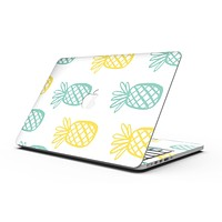 Gold and Mint Pineapple - MacBook Pro with Retina Display Full-Coverage Skin Kit