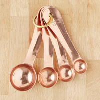 Copper Measuring Spoon Set | Urban Outfitters