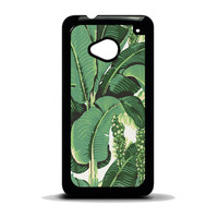 banana leaves HTC One M7 Case