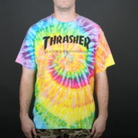 Thrasher Magazine Skate Mag Men's T-Shirt in Tie Dye (3111324-tiedye)