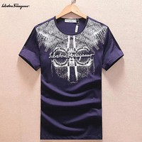 Salvatore Ferragamo Fashion Casual Shirt Top Tee-14