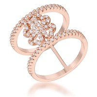 Lauren Rose Gold Clover Wrap Fashion Ring | 1.5ct