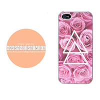 Flowers with Triangles iPhone 4/4s 5/5s/5c/6/6 plus iPod 4/5 & Galaxy S5 Case