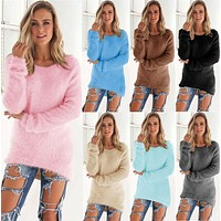 2016 New Fashion Sweater Women Pullovers O-neck Pull Femme Long Sleeve Wool Female Pullover Kintted Women Sweaters and Pullovers