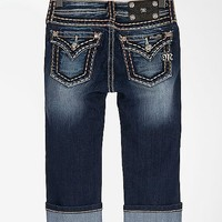 Girls-Miss Me Embroidered Cropped Jean - Girl's Crops   Buckle
