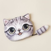 Moonstone cat pouch