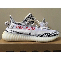 Adidas Yeezy Boost 350 V2 Zebra White Black 9 US SPLY 100% Authentic