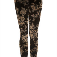 Floral Velvet Leggings - Dark Craft - Clothing - Topshop USA