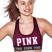Strappy Back Cotton Crop - PINK - Victoria's Secret