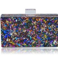 Confetti Acrylic Box Clutch
