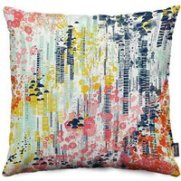 Flower Fall Throw Pillows by Jenean Morrison | Nuvango