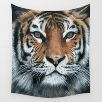 Tiger Wall Tapestry by Sam Luotonen