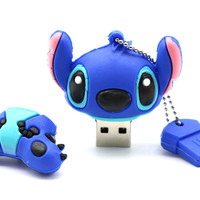2017 New Stitch USB flash drives 64GB 32GB 16GB 8GB Pen drives flash card External storage cartoon usb flash drive The vvusb
