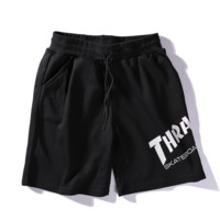 Black THRASHER Sports Running Shorts