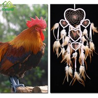 Handmade Dream Catcher With Feathers Car Wall Hanging Decoration