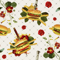 Removable Wallpaper - Cheeseburger in Gangsta's Paradise