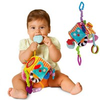 New Baby Mobile Baby Toy Plush Block Clutch Magic Cube Rattles Early Newborn Baby Educational Toys