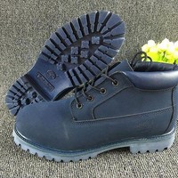 DCCKBE6 Timberland Rhubarb Boots Mid-high Shoes Blue Waterproof Martin Boots