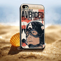 The First Avenger Captain America - for iPhone 4/4s, iPhone 5/5S/5C, Samsung S3 i9300, Samsung S4 i9500 *ENERGICFRESH*