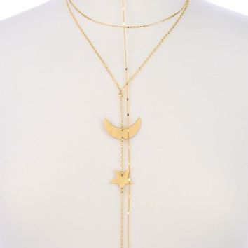 Galaxy Girl Gold Plated Layer Necklace